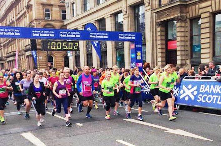 Starting Great Scottish Run