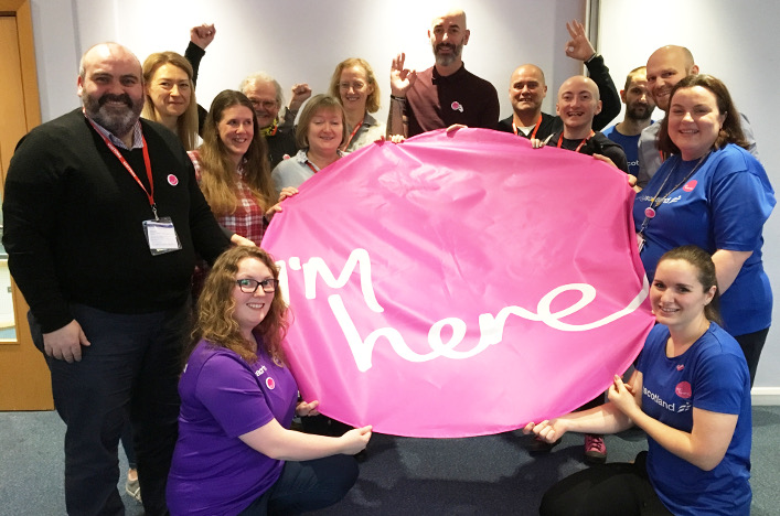 The launch of the I'm here campaign